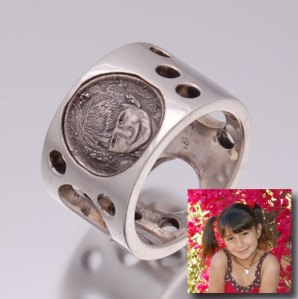 Picture Jewelry Photo Engraved Ring